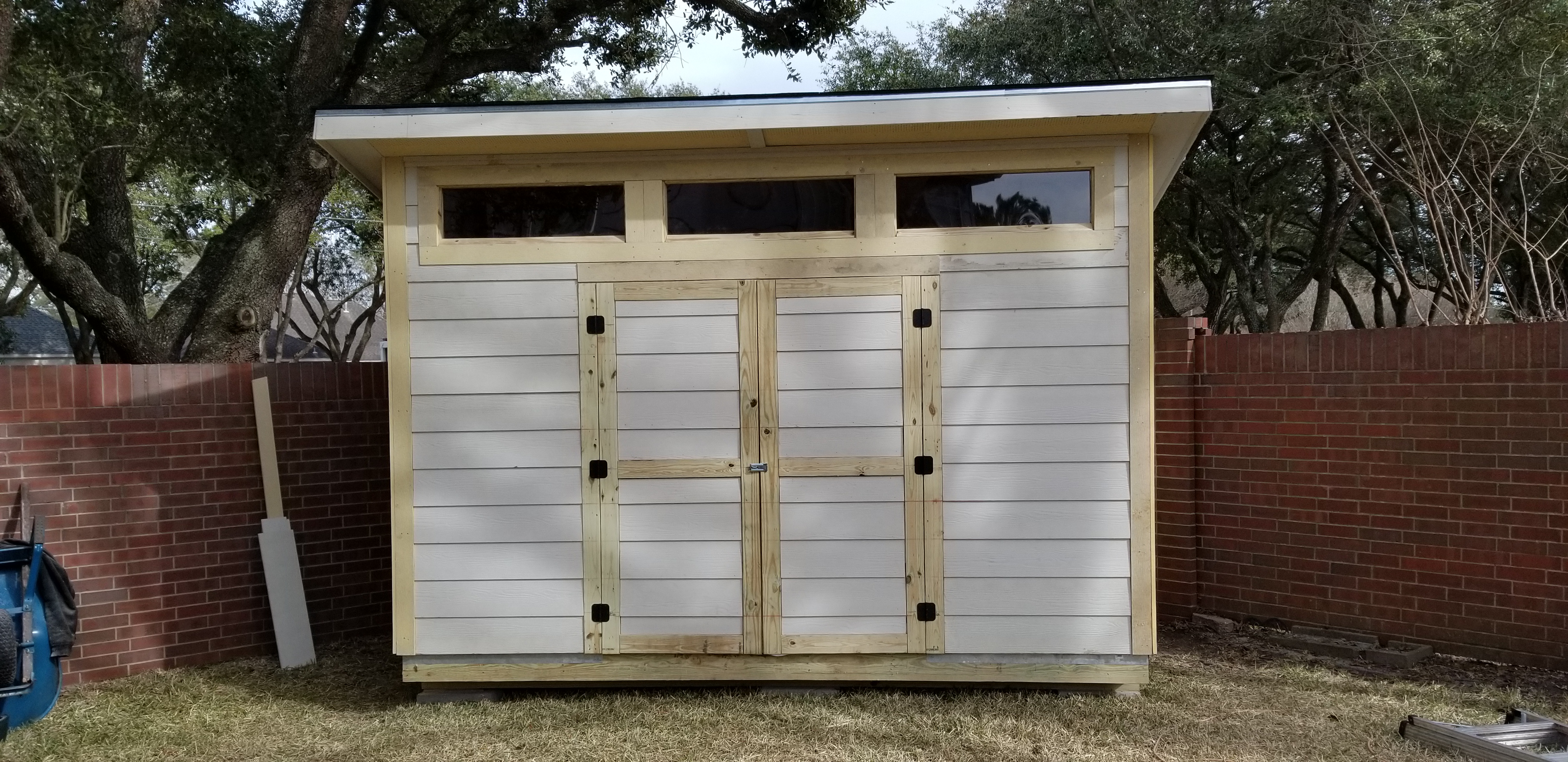 garden sheds kit barn attachment kits storage style diy wood shed